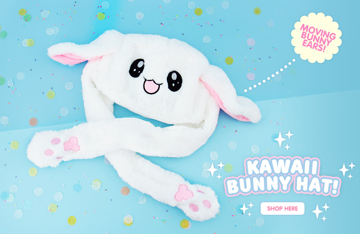 Kawaii Bunny Hat With moving Ears