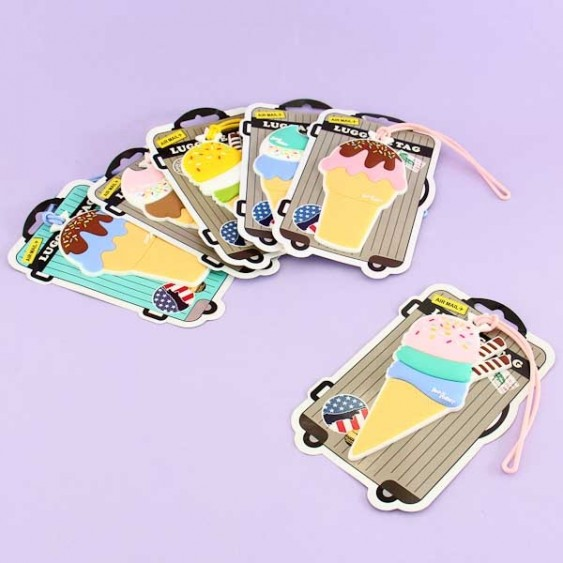 Lovely Ice Cream Luggage Tag