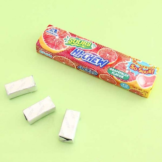 Hi-Chew Chewy Candy - Super Sour Grapefruit