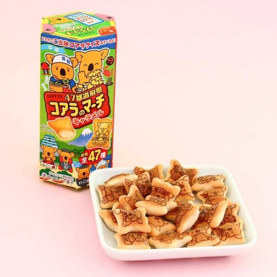 Lotte Koala's March Caramel Biscuits - 47 Prefectures