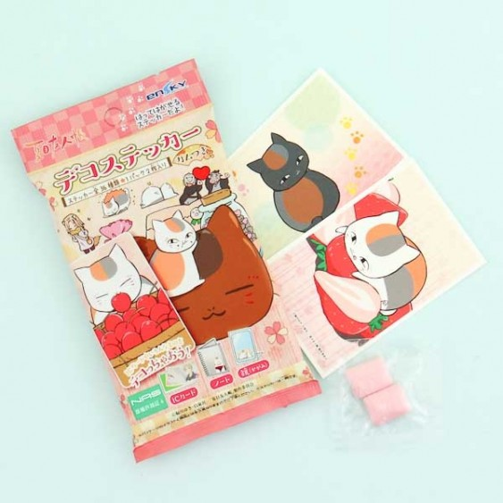 Ensky Natsume's Book of Friends Stickers & Gum Set