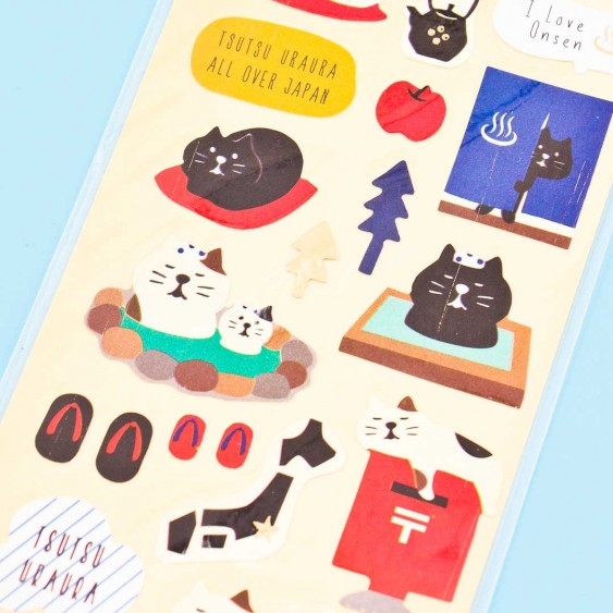 Onsen Cats Washi Stickers