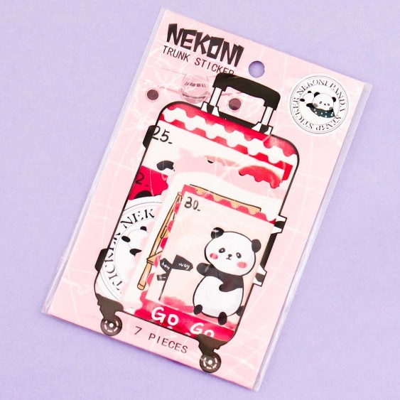 Nekoni Panda Luggage Stickers