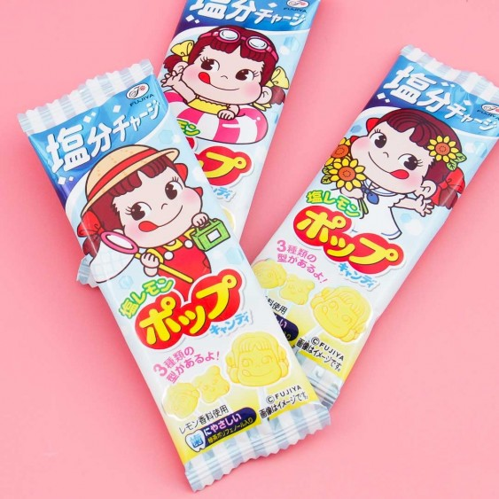 Fujiya Peko Chan Salty Lemon Lollipop