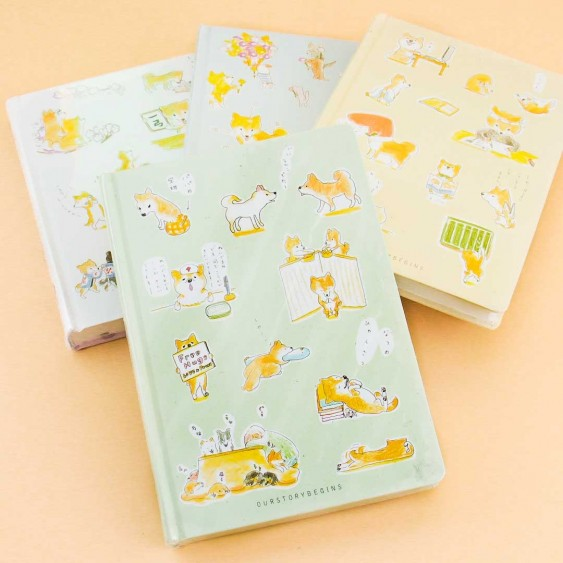 Shiba Inu Relax Hardcover Notebook