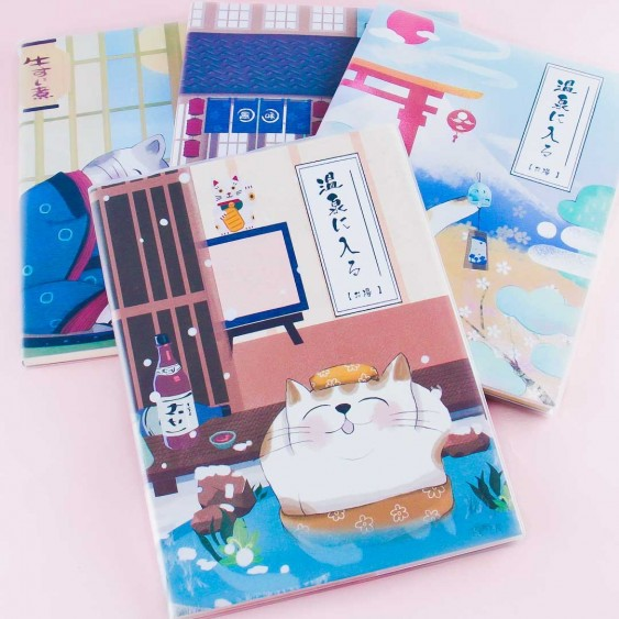 Onsen Cat Notebook