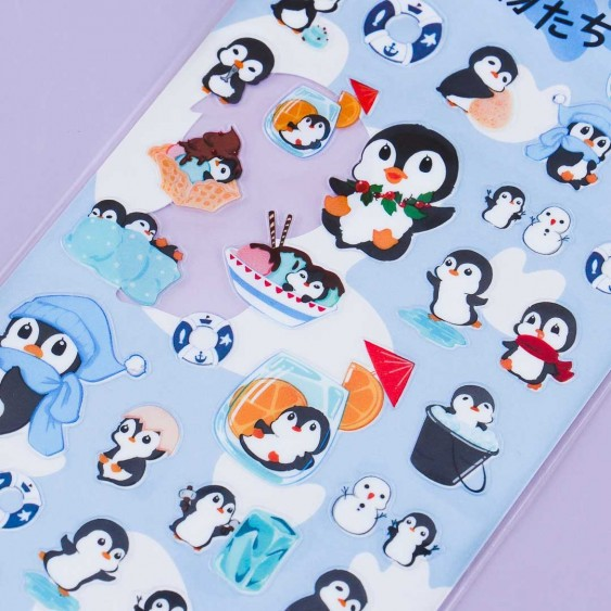 Nekoni Cool Penguin Stickers