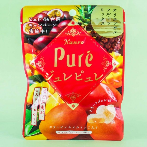 Kanro Pure Mixed Tropical Fruit Gummies