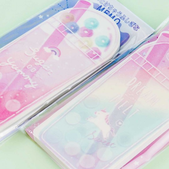 Rainbow Unicorn Drink Mysterious Memo Pad