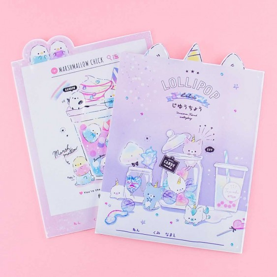 Marshmallow Chick & Lollipop Holic Notebook