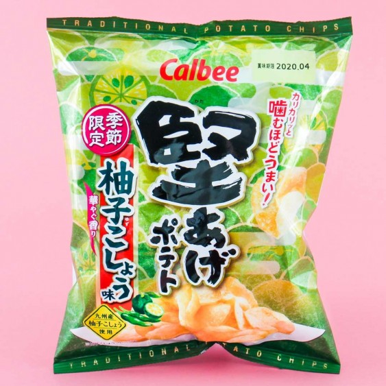 Calbee Kata-age Potato Chips - Yuzu Pepper