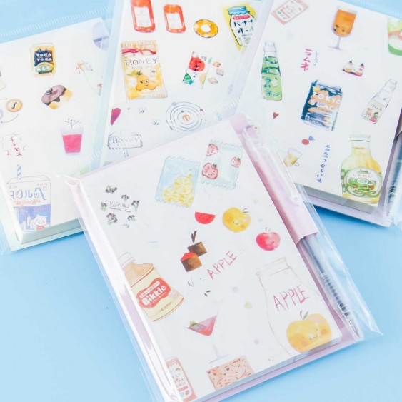 Japanese Drink Notepad With Pen