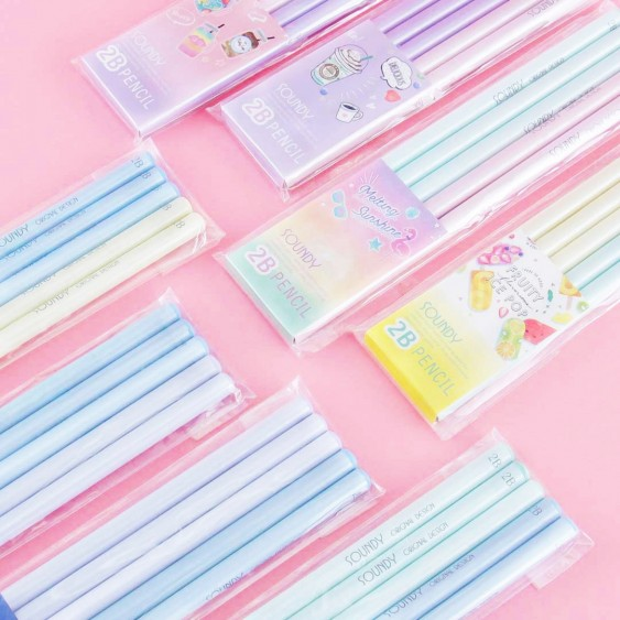 Shiny Pastel Pencil Set
