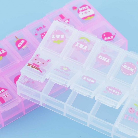 Animal & Flower Daily Pill Organizer