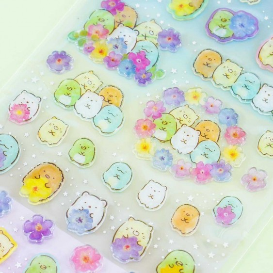 Sumikko Gurashi Colorful Clear Seal Stickers