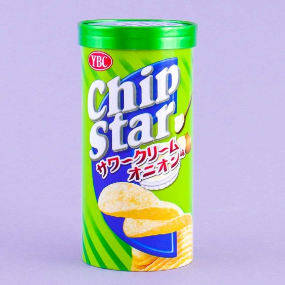 Chip Star Potato Chips -  Sour Cream & Onion
