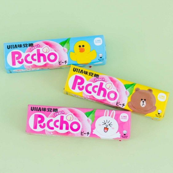 Puccho Line Friends Chewy Candy - Peach
