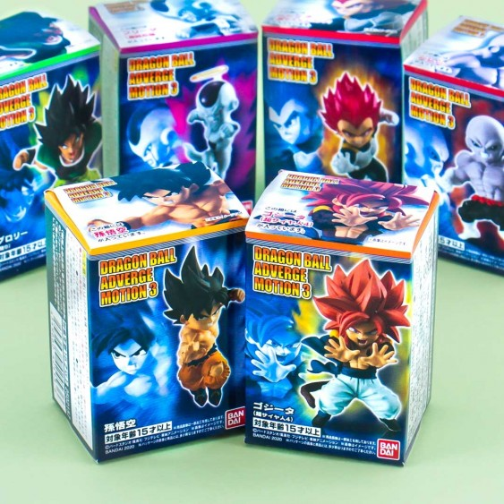 Dragon Ball Adverge Motion 3 Figurine & Gum Set