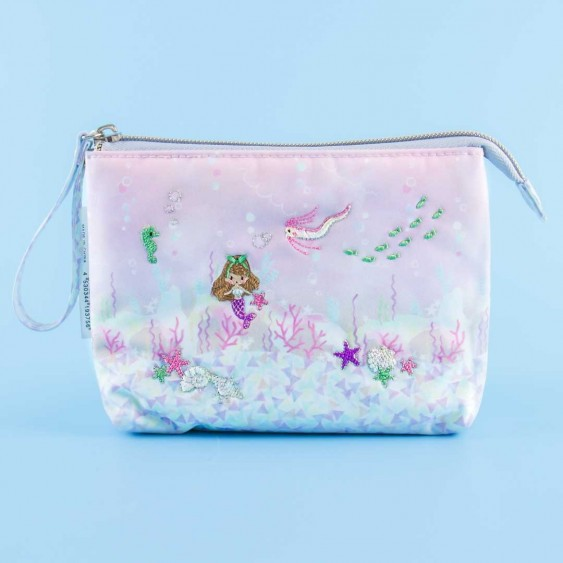 Pastel Mermaid Embroidered Pouch