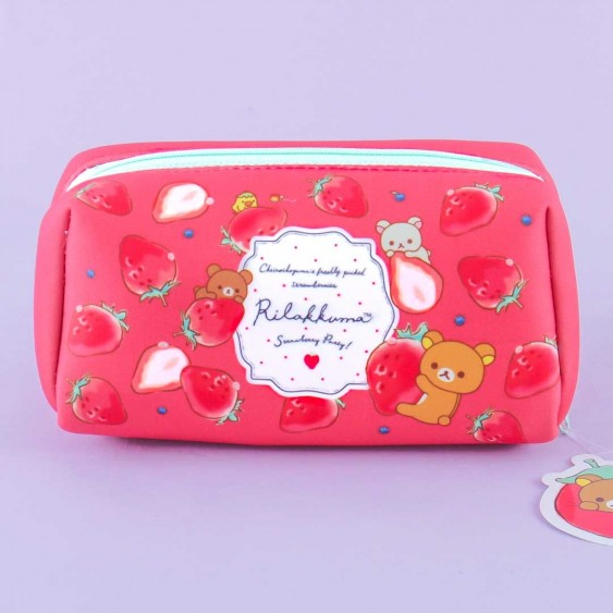 Rilakkuma Strawberry Party Cosmetic Bag