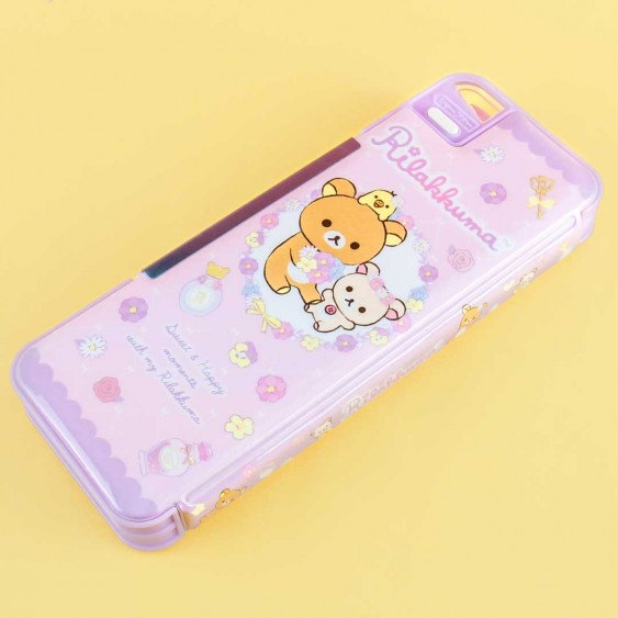 Rilakkuma Floral Double Sided Pencil Case