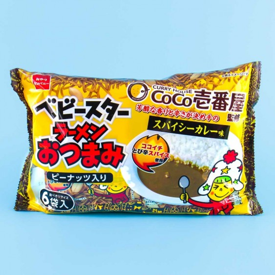 Baby Star Coco Ichibanya Curry Noodle Snacks Multi-Pack - 6 pcs