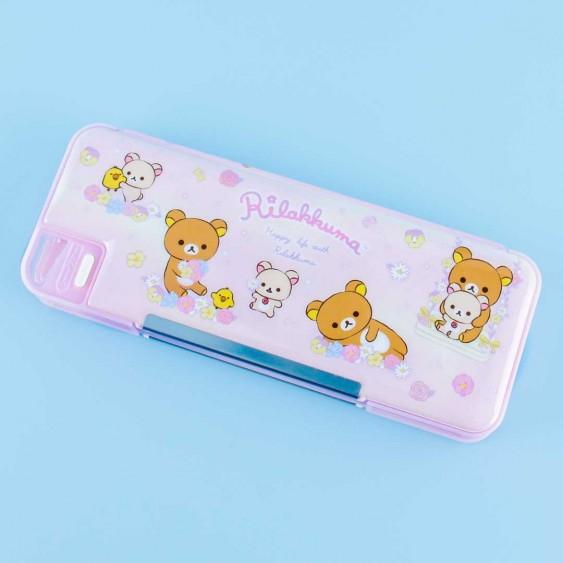 Happy Life With Rilakkuma Double Sided Pencil Case