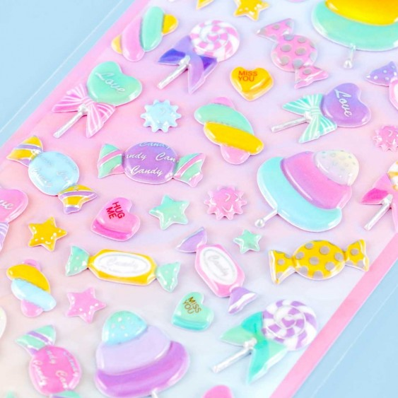 Milky Pop Puffy Stickers - Candy Fun
