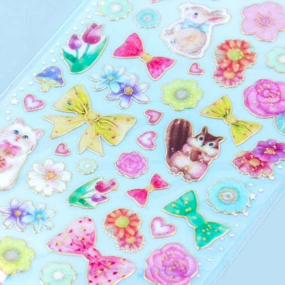 Blooming Bows & Animals Stickers