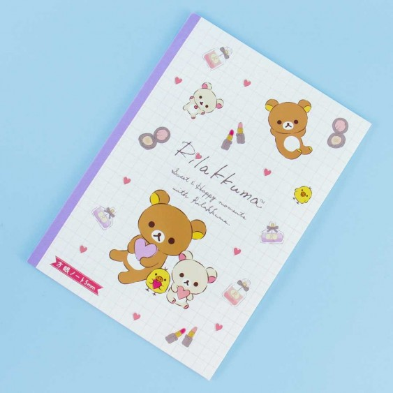 Sweet and Happy Moments With Rilakkuma Grid Notebook