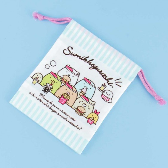 Sumikko Gurashi Burger Time Drawstring Bag