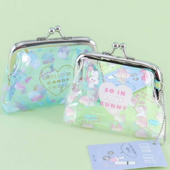 Pastel Sweet Treats Transparent Coin Purse