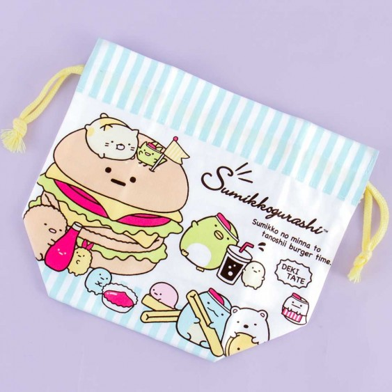 Sumikko Gurashi Fast Food Drawstring Bag