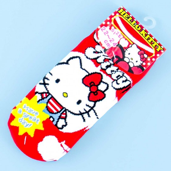 Have A Great Day With Hello Kitty Cotton Socks