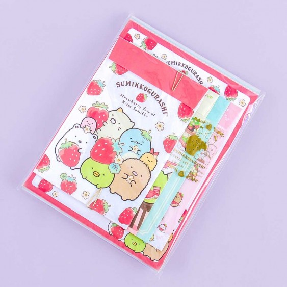 Sumikko Gurashi Strawberry Fair Letter Set