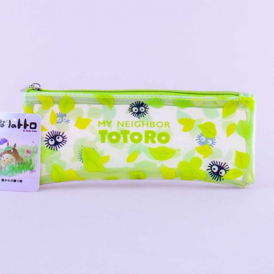 My Neighbor Totoro Clear Pencil Case - Soot Sprites & Leaves