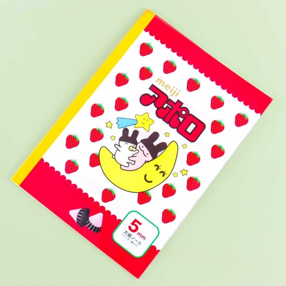 Apollo Strawberry Chocolate Grid Notebook