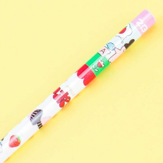 Apollo Strawberry Chocolate Triangle 2B Pencil