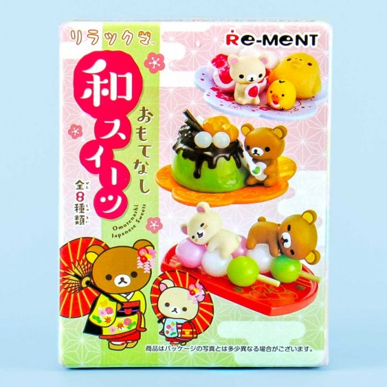 Re-Ment Rilakkuma Omotenashi Japanese Sweets Toy Kit
