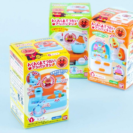 Bandai Anpanman Kitchen Toy With Candy