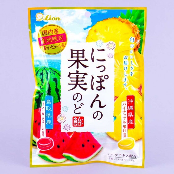 Lion Japanese Fruit Throat Candy - Watermelon & Pineapple