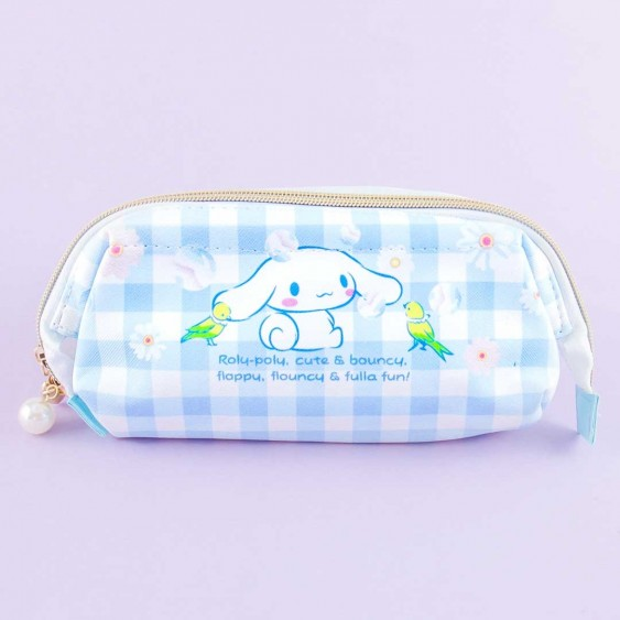 Cinnamoroll Checkered Cosmetic Pouch