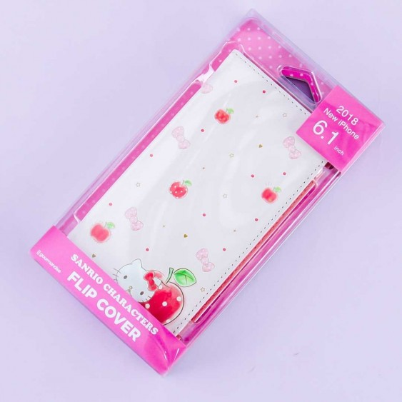Hello Kitty & Apples Flip Cover Case for iPhone XR / XS