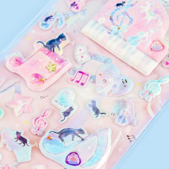 Bejeweled Smoochy Melody Puffy Stickers