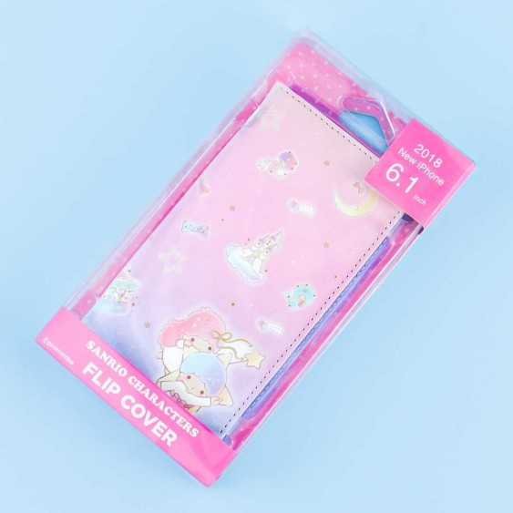 Little Twin Stars In Space Flip Cover Case for iPhone XR / XS