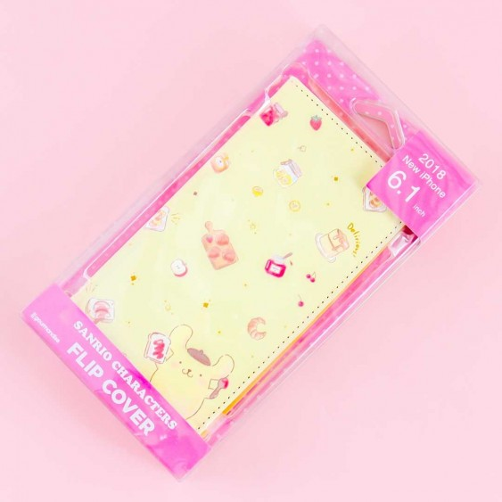 Pompompurin Breakfast Flip Cover Case for iPhone XR / XS