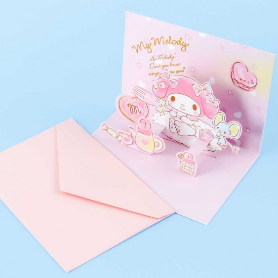 My Melody Tea Party Pop-Up Greeting Card