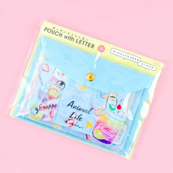 Animal Life Sweet Drinks Letter Set With Pouch