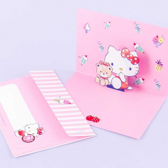 Hello Kitty Pop-Up Greeting Card