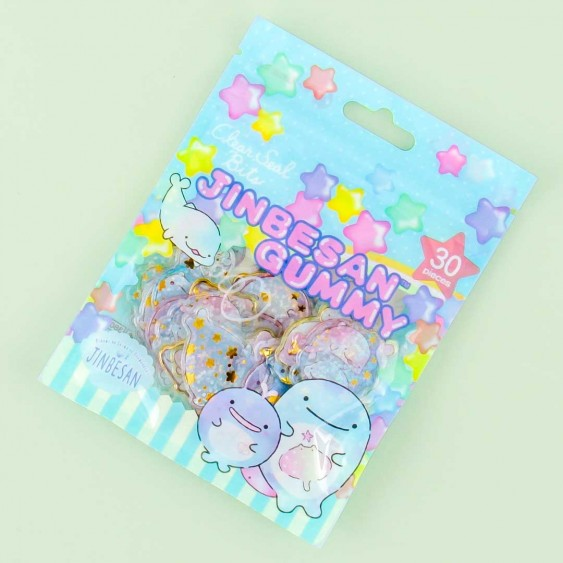 Jinbesan Gummy Clear Seal Bits Stickers